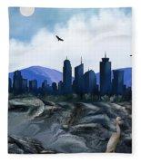 Low Tide Sea Side Fleece Blanket