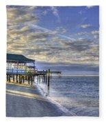 Low Tide Sunrise Tybee Island Fleece Blanket