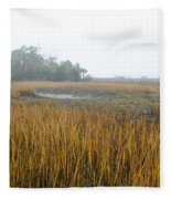 Lowcountry Fog Fleece Blanket