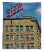 Lowell Sun Sign Fleece Blanket