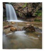 Lower Adams Canyon Falls Fleece Blanket