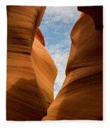 Lower Antelope Slot Canyon, Page, Arizona Fleece Blanket