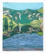Lower Cataract Lake And Cataract Creek Falls Fleece Blanket