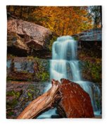 Lower Falls At Kaaterskill Fleece Blanket