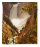 Lower Falls From Artists Viewpoint Fleece Blanket