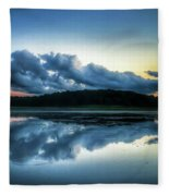 Lower Lake Sunset Fleece Blanket