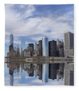 Lower Manhattan Nyc Fleece Blanket