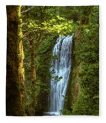 Lower Multanomah Falls, Oregon Fleece Blanket