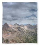 Lower North Eolus From The Catwalk - Chicago Basin - Weminuche Wilderness - Colorado Fleece Blanket