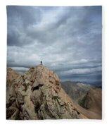 Lower North Eolus From The Catwalk Detail - Chicago Basin - Weminuche Wilderness - Colorado Fleece Blanket