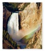 Lower Rainbow Of Colors Fleece Blanket