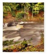 Lower Tahquamenon Falls 1 Fleece Blanket