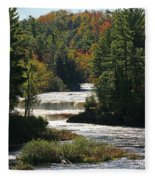 Lower Tahquamenon Falls  4349 Fleece Blanket