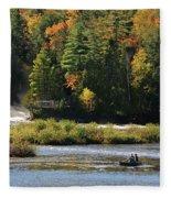 Lower Tahquamenon Falls  4351 Fleece Blanket