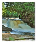 Lower Tahquamenon Falls Fleece Blanket