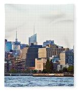 Lower West Side On The Waterfront Fleece Blanket