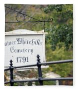 Lower White Hills Cemetery Fleece Blanket