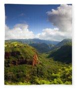 Lower Wiamea View Fleece Blanket