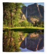 Lower Yosemite Morning Fleece Blanket