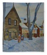 Lowertown Scene No. 2 Fleece Blanket