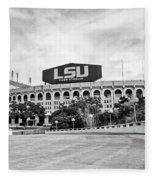 Lsu Tiger Stadium -bw Fleece Blanket