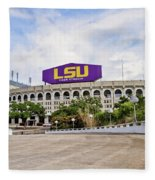 Lsu Tiger Stadium Fleece Blanket