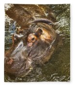 Lu The Homossasa Hippo I I Fleece Blanket