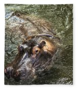 Lu The Homosassa Hippo Fleece Blanket