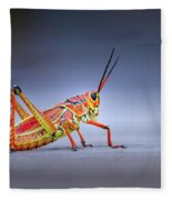 Lubber Grasshopper Fleece Blanket