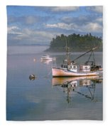 Lubec Waterfront Fleece Blanket