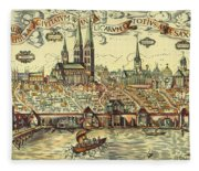 Lubeck, Germany Fleece Blanket