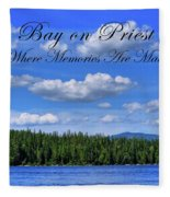 Luby Bay On Priest Lake Fleece Blanket