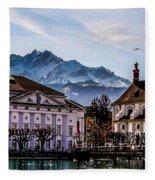 Lucerne's Architecture Fleece Blanket