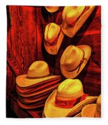 Luckenbach Hats Hdr Fleece Blanket