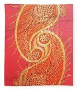 Lucknow's Chikangari Fleece Blanket