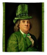 Lucky Ben Franklin In Green Fleece Blanket