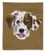 Lucky Brown Mixed Breed Fleece Blanket