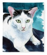 Lucky Elvis - Cat Portrait Fleece Blanket