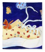 Lucky Lady Bug Shoe Fleece Blanket