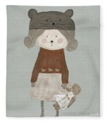 Lucy Bear Fleece Blanket