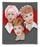 Lucy Expressions Gry Fleece Blanket