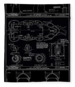 Lucy The Elephant Building Patent Blueprint 3 Fleece Blanket