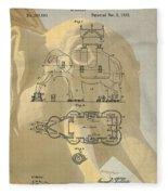 Lucy The Elephant Building Patent Fleece Blanket