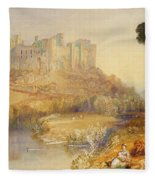 Ludlow Castle  Fleece Blanket