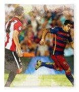 Luis Suarez Takes The Ball Past Athletic Bilbao's Eneko Boveda A Fleece Blanket