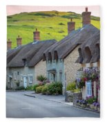 Lulworth Cottages Fleece Blanket