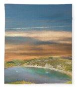 Lulworth Cove Fleece Blanket