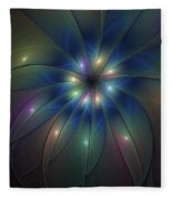 Luminous Fractal Art Fleece Blanket