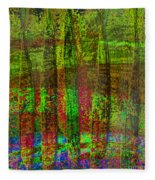 Luminous Landscape Abstract Fleece Blanket
