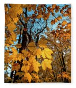 Luminous Leaves Fleece Blanket